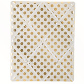 White & Gold Polka Dot Memo Board